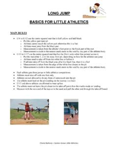 Athletics - Long Jump basics for little athletics