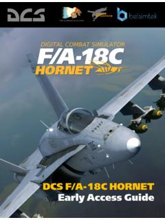 DCS F/A-18C HORNET Early Access Guide