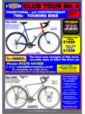 CLUB TOUR Mk 4 - sjscycles.com