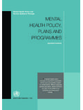 Mental Health Policy and Service Guidance Package MENTAL ...
