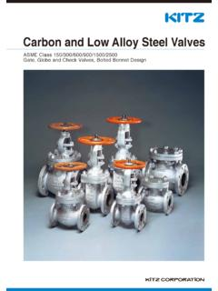 Carbon and Low Alloy Steel Valves - KITZ
