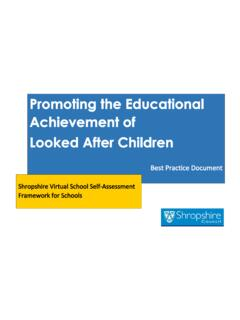 Promoting the Educational Achievement of Looked After …