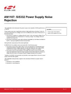 AN1107: Si5332 Power Supply Noise Rejection - Silicon Labs