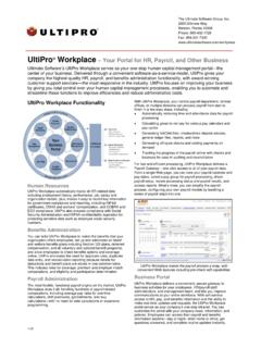 UltiPro Workplace – Your Portal for HR, Payroll, and Other ...