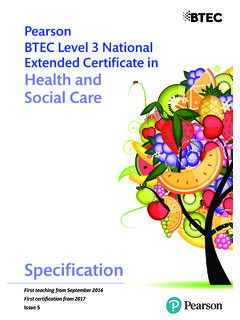 Pearson BTEC Level 3 National Extended Certificate in ...