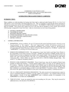 GUIDELINES FOR LEASED FOREST CAMPSITES …