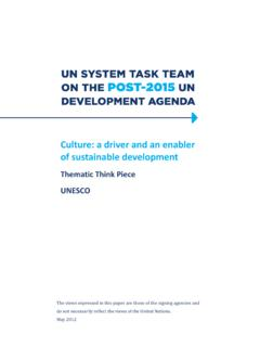 Culture and development - UNESCO
