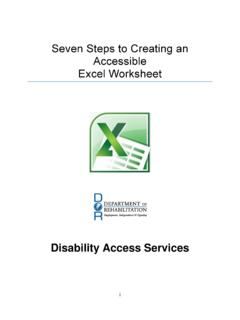 Seven Steps to Creating an Accessible Excel Worksheet