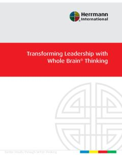 Transforming Leadership with Whole Brain Thinking