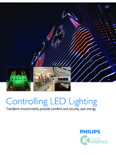Controlling LED Lighting - Philips Color Kinetics