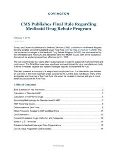 CMS Publishes Final Rule Regarding Medicaid Drug Rebate ...