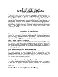 Creative Interventions for Children, Youth, and …
