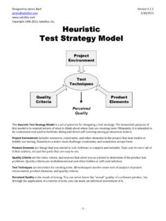 Heuristic Test Strategy Model - Satisfice, Inc.