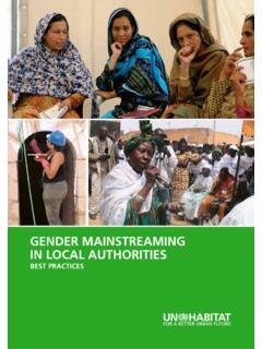 GENDER MAINSTREAMING IN LOCAL AUTHORITIES