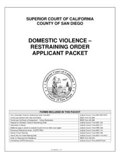 DOMESTIC VIOLENCE – RESTRAINING ORDER APPLICANT …