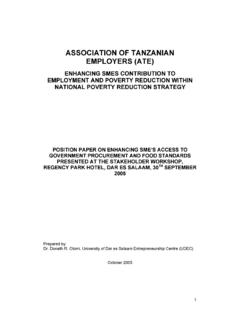 ASSOCIATION OF TANZANIAN EMPLOYERS (ATE)