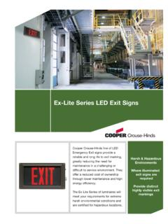 Ex-Lite Series LED Exit Signs - Cooper Industries