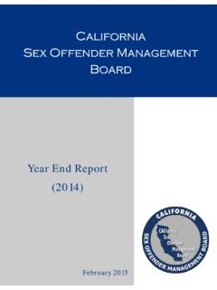 California Sex Offender Management Board - CASOMB