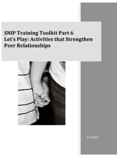 SNIP Training Toolkit Part 6 Let's Play: Activities that ...