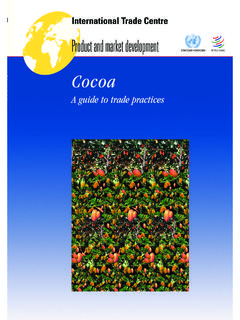 Cocoa: A guide to trade practices - International …