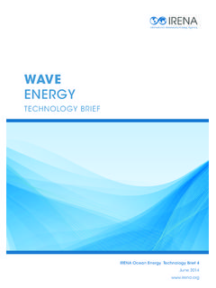 Wave Energy Technology Brief - IRENA