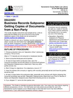 Business Records Subpoena: Getting Copies of Documents ...