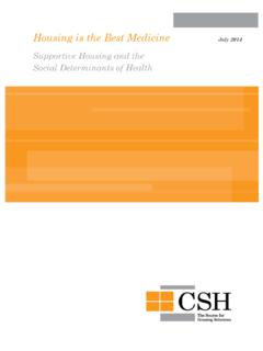 Housing is the Best Medicine July 2014 - CSH