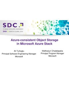 Azure-consistent Object Storage in Microsoft Azure Stack