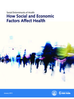 Social Determinants of Health How Social and …