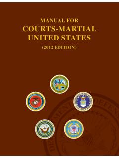 MANUAL FOR COURTS-MAR TIAL UNITED STATES