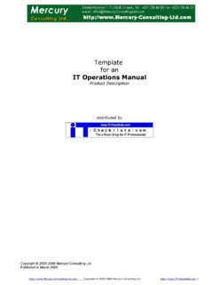 Template for an IT Operations Manual - Mercury …