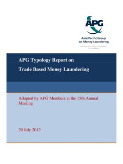 APG Trade Based Money Laundering Typologies Report 2012 …