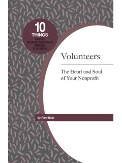 EVERY BOARD MEMBER NEEDS TO KNOW Volunteers