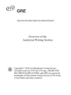 Overview of the Analytical Writing Section - ETS Home