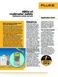 ABCs of multimeter safety - Fluke Corporation