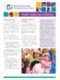 Health, safety and wellbeing - Early Childhood …