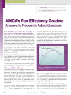 AMCA's Fan Efficiency Grades