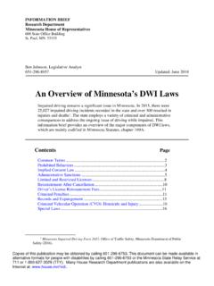 An Overview of Minnesota's DWI Laws