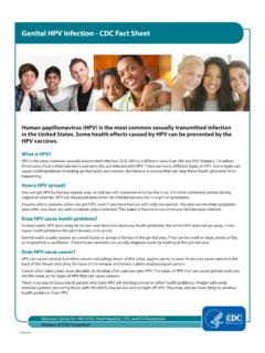 Genital HPV Infection - CDC Fact Sheet.