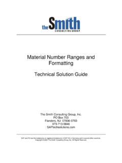 Material Number Ranges and Formatting - SAPtech Solutions