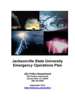 Jacksonville State University Emergency Operations Plan