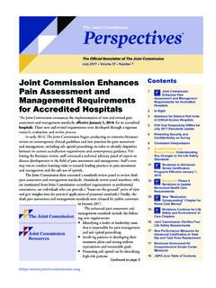 Joint Commission Enhances Pain Assessment and …