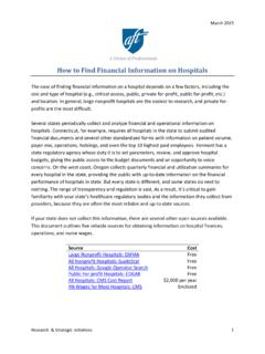 How to Find Financial Information on Hospitals - AFT