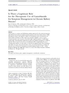 Is There a Legitimate Role for the Therapeutic Use of ...