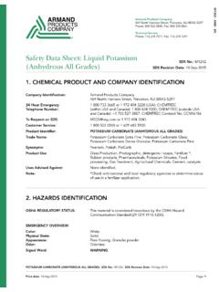 Safety Data Sheet: Liquid Potassium (Anhydrous All …