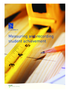 Measuring and recording student achievement