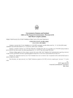 Government of Jammu and Kashmir Office of the Financial ...