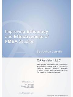 Improving Efficiency and Effectiveness of FMEA Studies