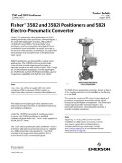 Fisher 3582 and 3582i Positioners and 582i Electro ...