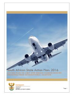 South African State Action Plan: 2016